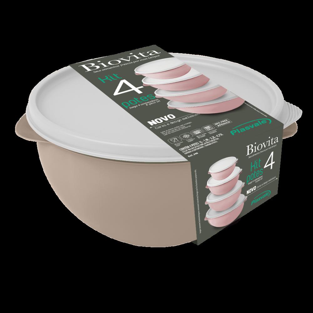 Imagem do produto: Kit 4 Potes Biovita Verde