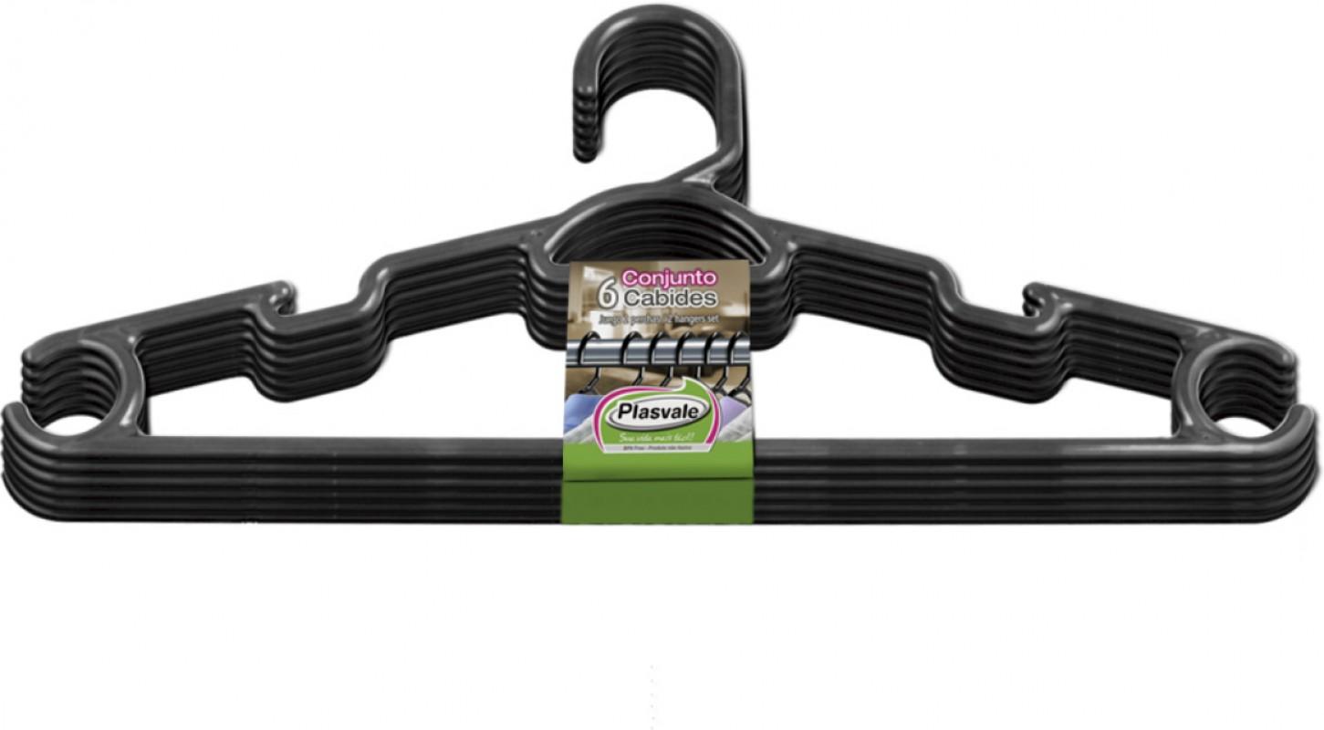 Kit Cabide 6 Peças