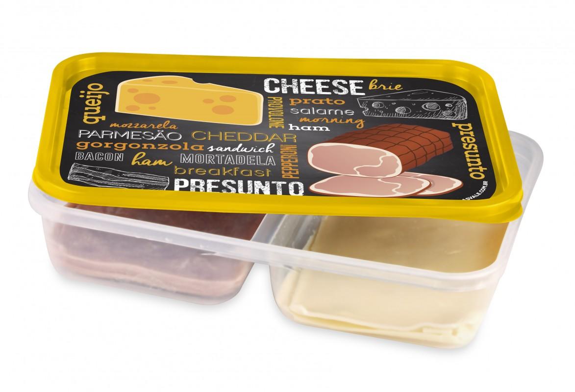 Imagem do produto Pote 2 divisórias Queijo e Presunto 1,5L
