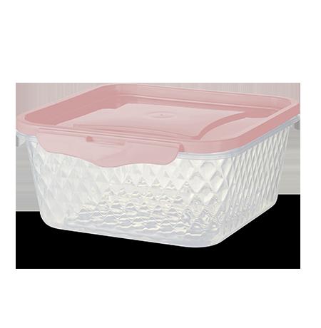 Imagem do produto: Contenedor Cuadrado 1,7L 3475 - Rosa