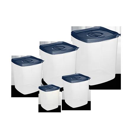 Conj. 5 Potes Quadrados