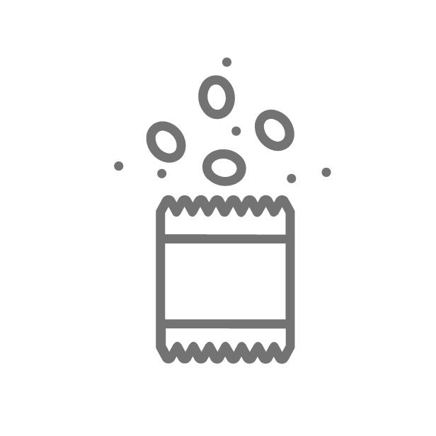 ícone caracteristica Porta petisco