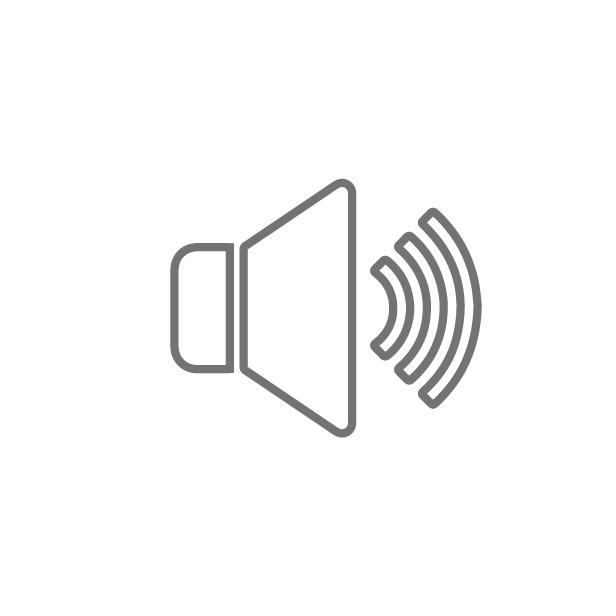 ícone caracteristica Com som