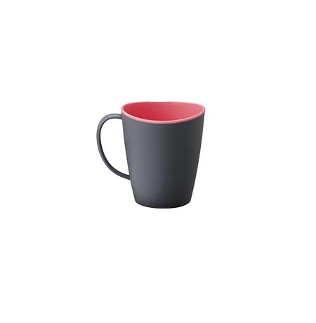 Imagem do produto: Caneca Bicolor 0,35L 8102 - Rosa e Cinza