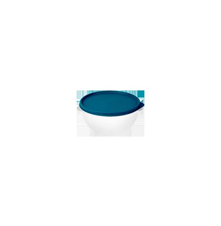 Imagem do produto: Pote 0,25L 4600 - Corpo Transparente + Tampa Azul Petróleo