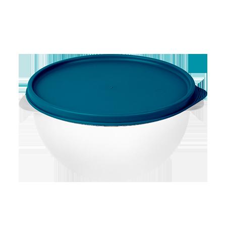 Imagem do produto: Pote 7,5L  4600 - Corpo Transparente + Tampa Azul Petróleo