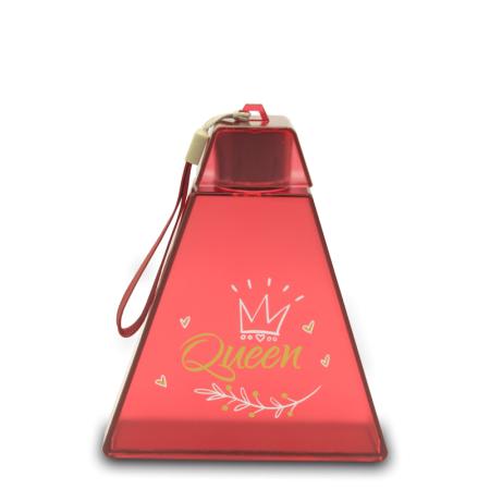 Imagem do produto: Garrafa Triangular 320ml 3383- Rosa  Transparente