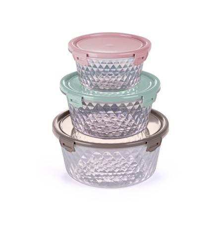 Imagem do produto: Juego de 3 Contenedores Cristal 19