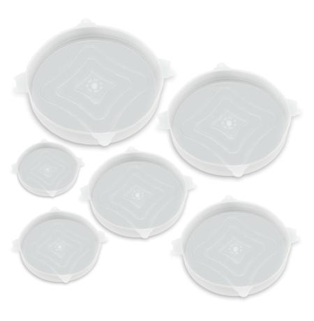 Imagem do produto: Kit 6 Tampas de Silicone 4600