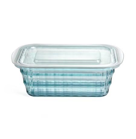 Imagem do produto: Pote Quadrado Cristal M 1L 5912 – Azul Turquesa