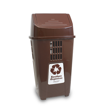 Imagem do produto: Lixeira Basculante 50L Resíduos Orgânicos 7510 - Marrom