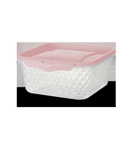 Imagem do produto: Pote Quadrado 1L 3475 - Rosa