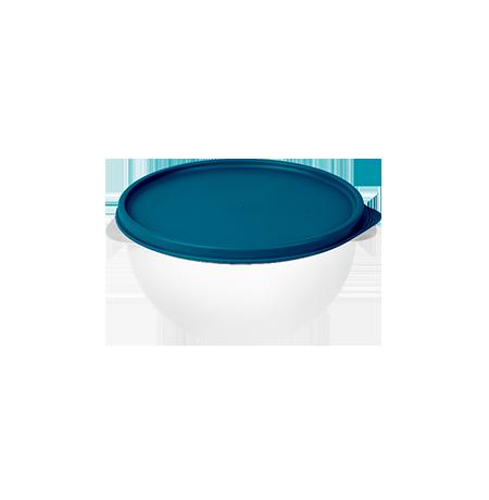 Imagem do produto: Pote 3,2L  4600 - Corpo Transparente + Tampa Azul Petróleo
