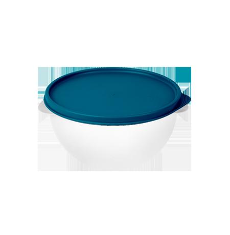 Imagem do produto: Pote 4,75L  4600 - Corpo Transparente + Tampa Azul Petróleo