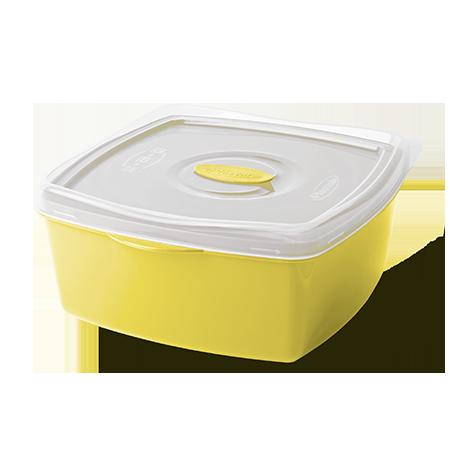 Imagem do produto: Pote Retangular 2,5L 1530 – Amarelo
