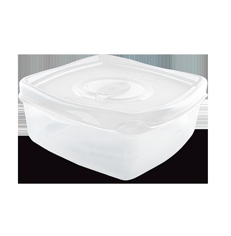 Imagem do produto: Pote Retangular 2,5L 8300 - Branco