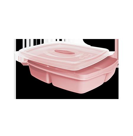 Imagem do produto: Pote 3 divisórias 1,2L 3475 - Rosa