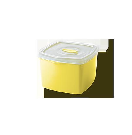 Imagem do produto: Pote Quadrado 0,6L 1530 – Amarelo