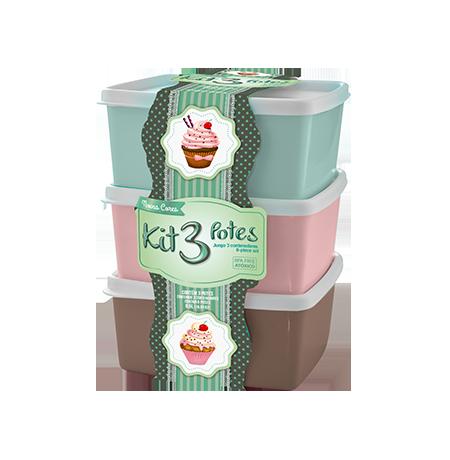 Kit 3 potes 0,5L